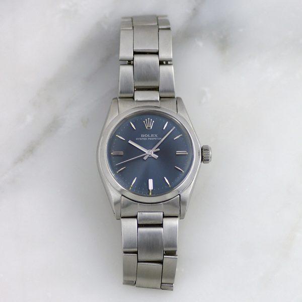 rare-watches-co-montres-rare-occasion-rolex-31mm-femme-acier-bleu