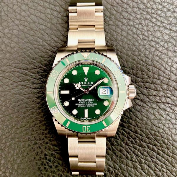 rare-watches-co-bordeaux-strasbourg-montre-occasion-rolex-submariner-116610LV-greendial-hulk