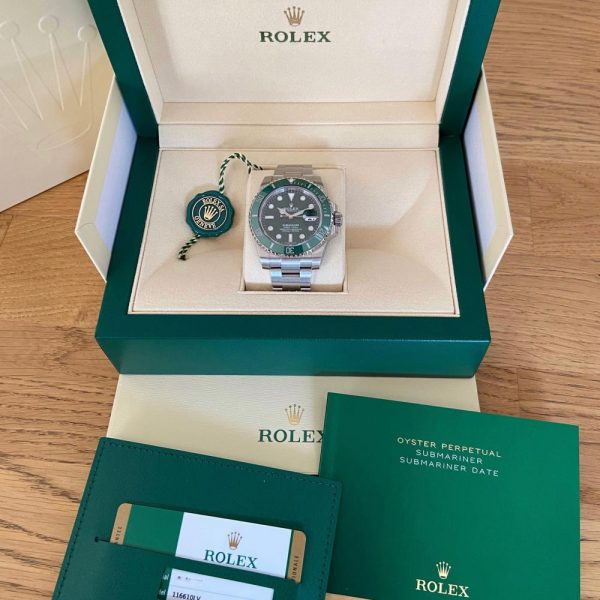 rare-watches-co-bordeaux-strasbourg-montre-occasion-rolex-submariner-116610LV-greendial-hulk-fullset