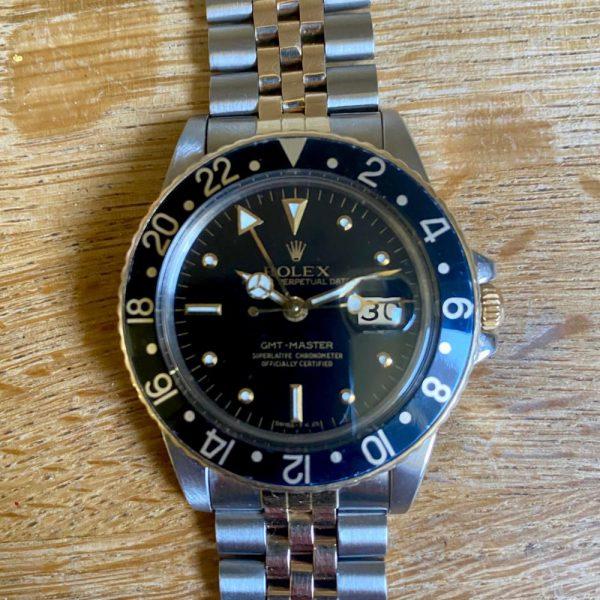 rare-watches-co-bordeaux-strasbourg-montre-occasion-rolex-GMT-16753-nippledial-jubile-blackbezel-tritium